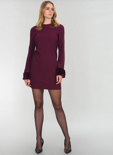 People By Fabrika Uzun Kollu Elbise Mürdüm